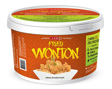 Fried Wonton available at Lan Food Grocery on Vancouver Island, BC
