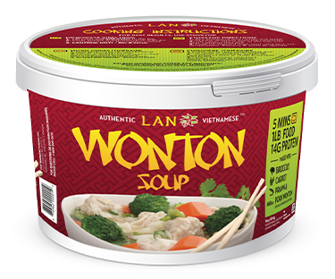 Frozen Wonton Soup available at Lan Food Grocery on Vancouver Island, BC