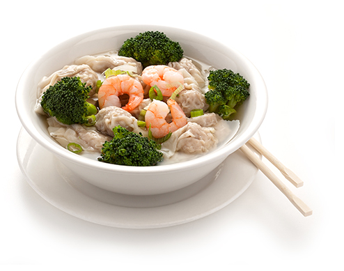 Fresh Wonton Soup available at Lan Food Grocery on Vancouver Island, BC